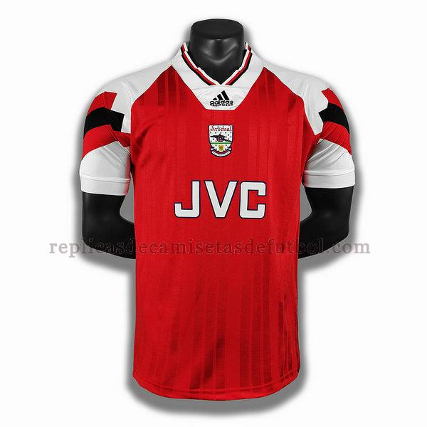 primera player camisetas de futbol arsenal 1992 1993 rojo