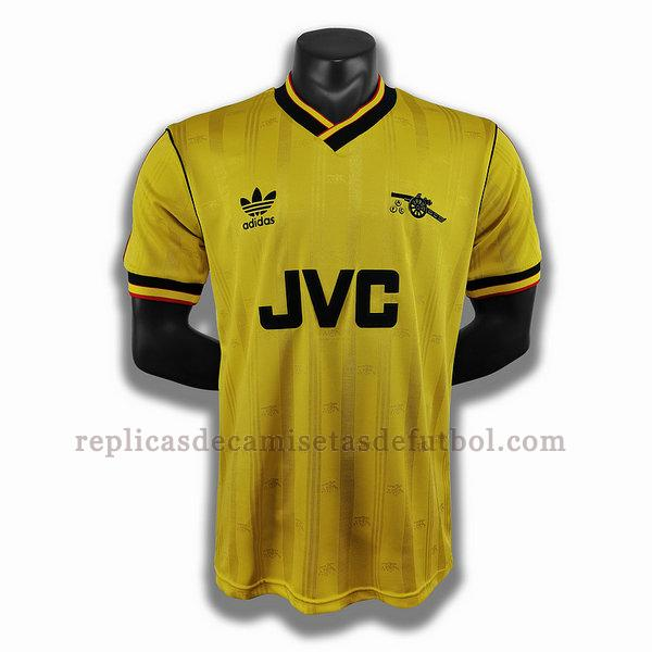 segunda player camisetas de futbol arsenal 1986 1988 amarillo