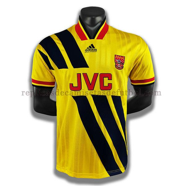 segunda player camisetas de futbol arsenal 1993 1994 amarillo