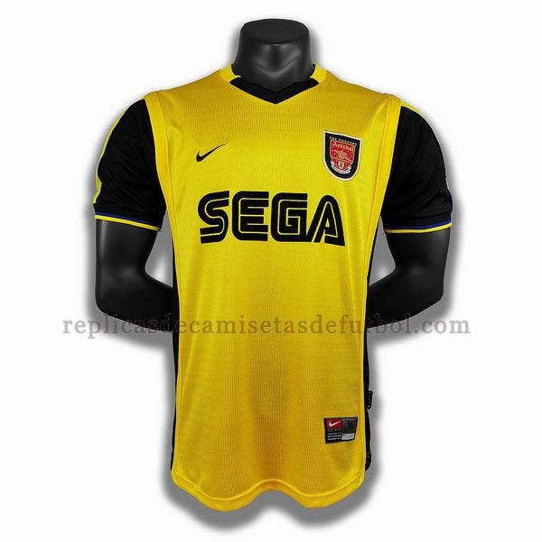 segunda player camisetas de futbol arsenal 1999 2000 amarillo